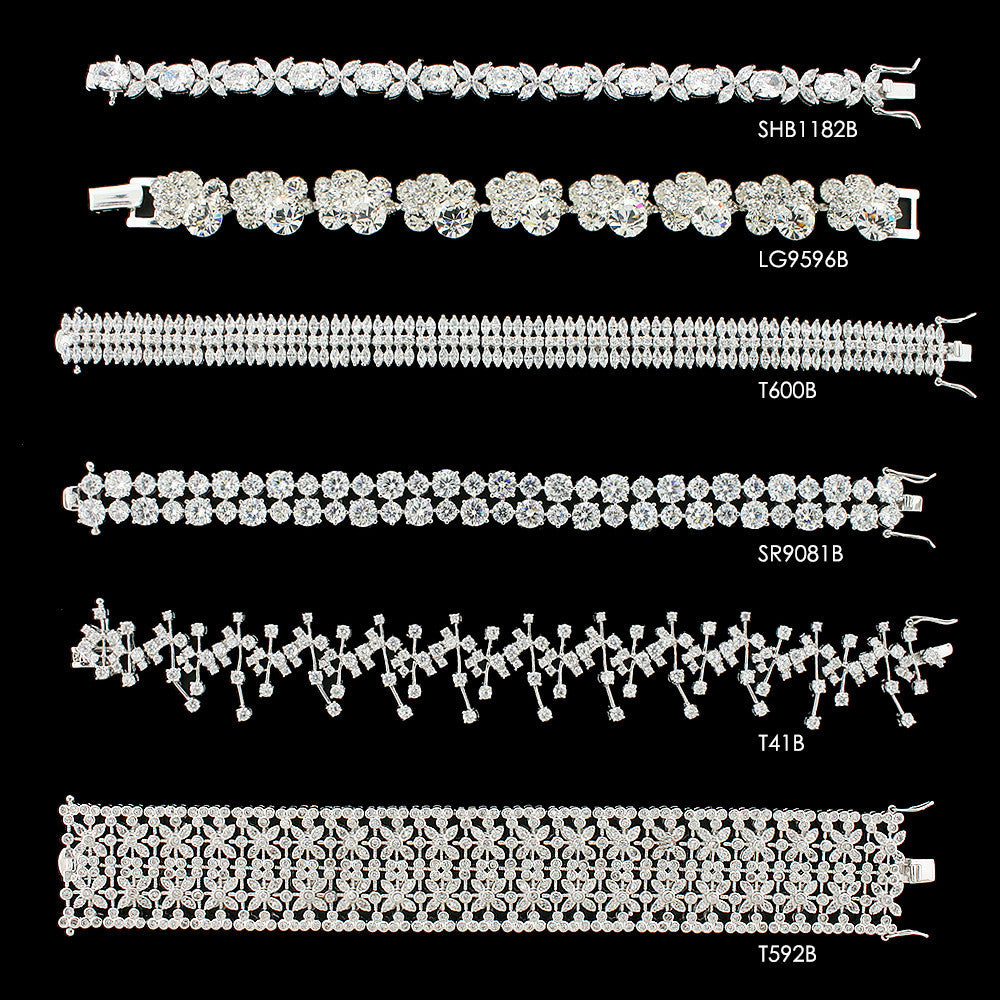 CZ and crystal bracelets, compare
