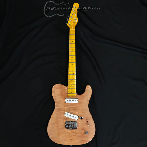 G&L USA ASAT Deluxe Flame Maple Top Electric Guitar Natural Gloss