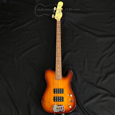 G&L USA Savannah Collection ASAT® Semi-Hollow Electric Bass Old School Tobacco Sunburst