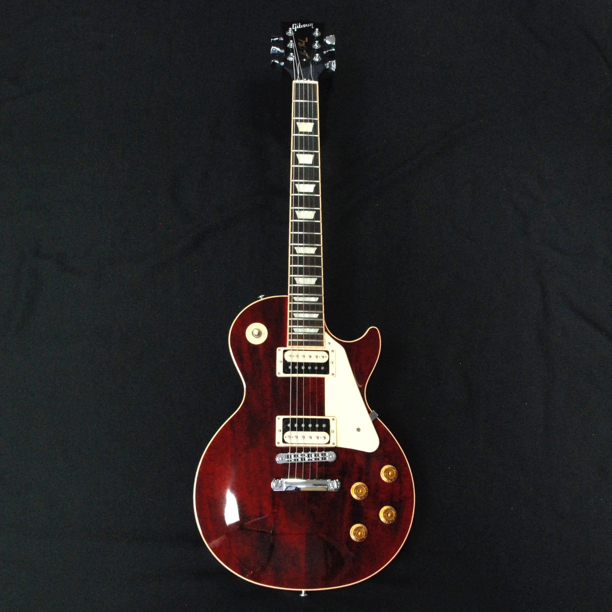 Shop online for Gibson 2015 Les Paul traditional Pro III Wine Red Excellent Condition today.  Now available for purchase from Midlothian Music of Orland Park, Illinois, USA