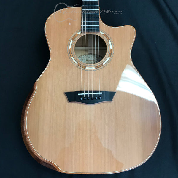 Washburn WCG66SCE Spalted Maple Acoustic Guitar Natural Gloss