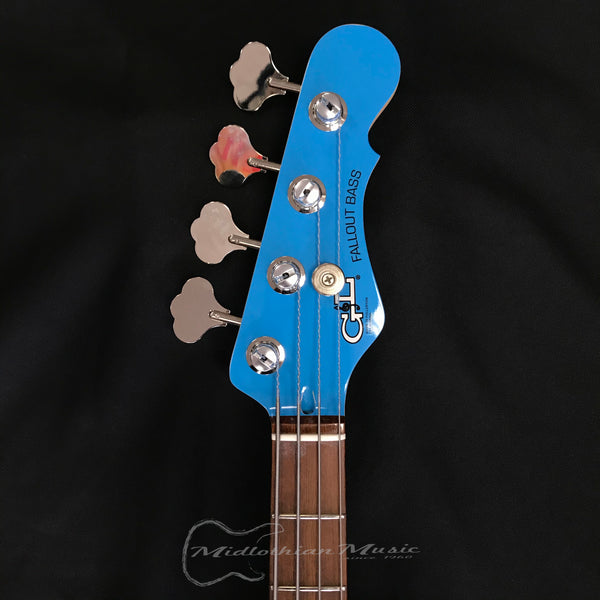 G&L USA Fallout Bass Launch Edition Miami Blue 4 String Electric Bass