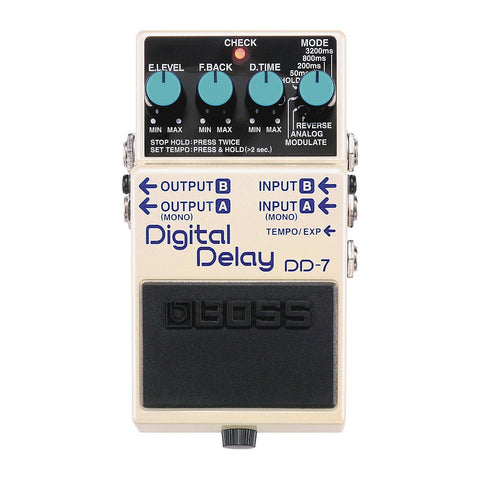 Shop online for Boss DD-7 Digital Delay Effect Pedal today.  Now available for purchase from Midlothian Music of Orland Park, Illinois, USA