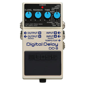Shop online for Boss DD-8 Digital Delay Effects Pedal today.  Now available for purchase from Midlothian Music of Orland Park, Illinois, USA