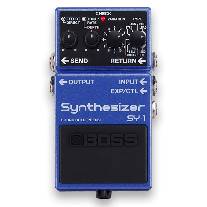Shop online for Boss SY-1 Synthesizer Effects Pedal today.  Now available for purchase from Midlothian Music of Orland Park, Illinois, USA