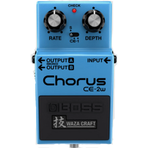 Shop online for Boss CE-2w Waza Craft Chorus Effect Pedal today. Now available for purchase from Midlothian Music of Orland Park, Illinois, USA
