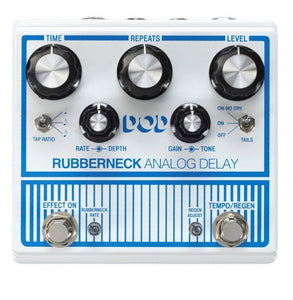 Shop online for DOD Rubberneck Analog Delay Pedal today.  Now available for purchase from Midlothian Music of Orland Park, Illinois, USA
