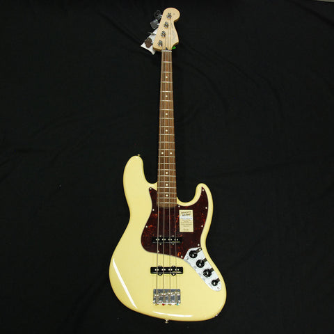 Shop online for Fender Deluxe Active 4 String Jazz Bass Vintage White today.  Now available for purchase from Midlothian Music of Orland Park, Illinois, USA