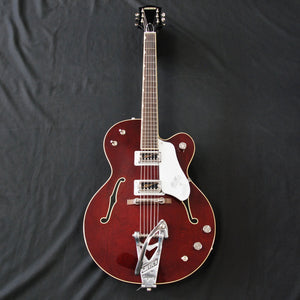 Shop online for Gretsch G6119T-62 Vintage Select Edition '62 Tennessee Rose Dark Cherry Stain today. Now available for purchase from Midlothian Music of Orland Park, Illinois, USA