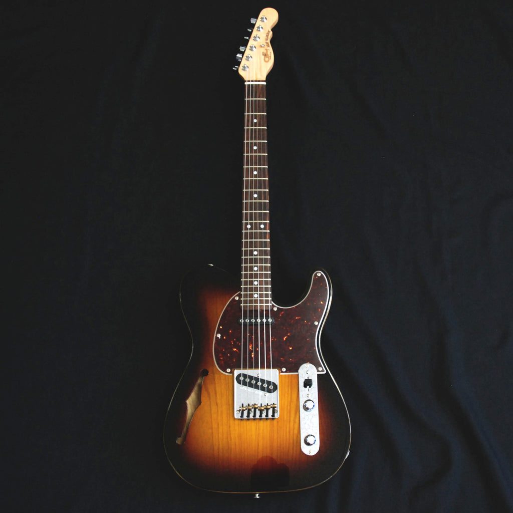 G&L ASAT Classic Semi-Hollow USA Electric Guitar Tobacco Sunburst 77080