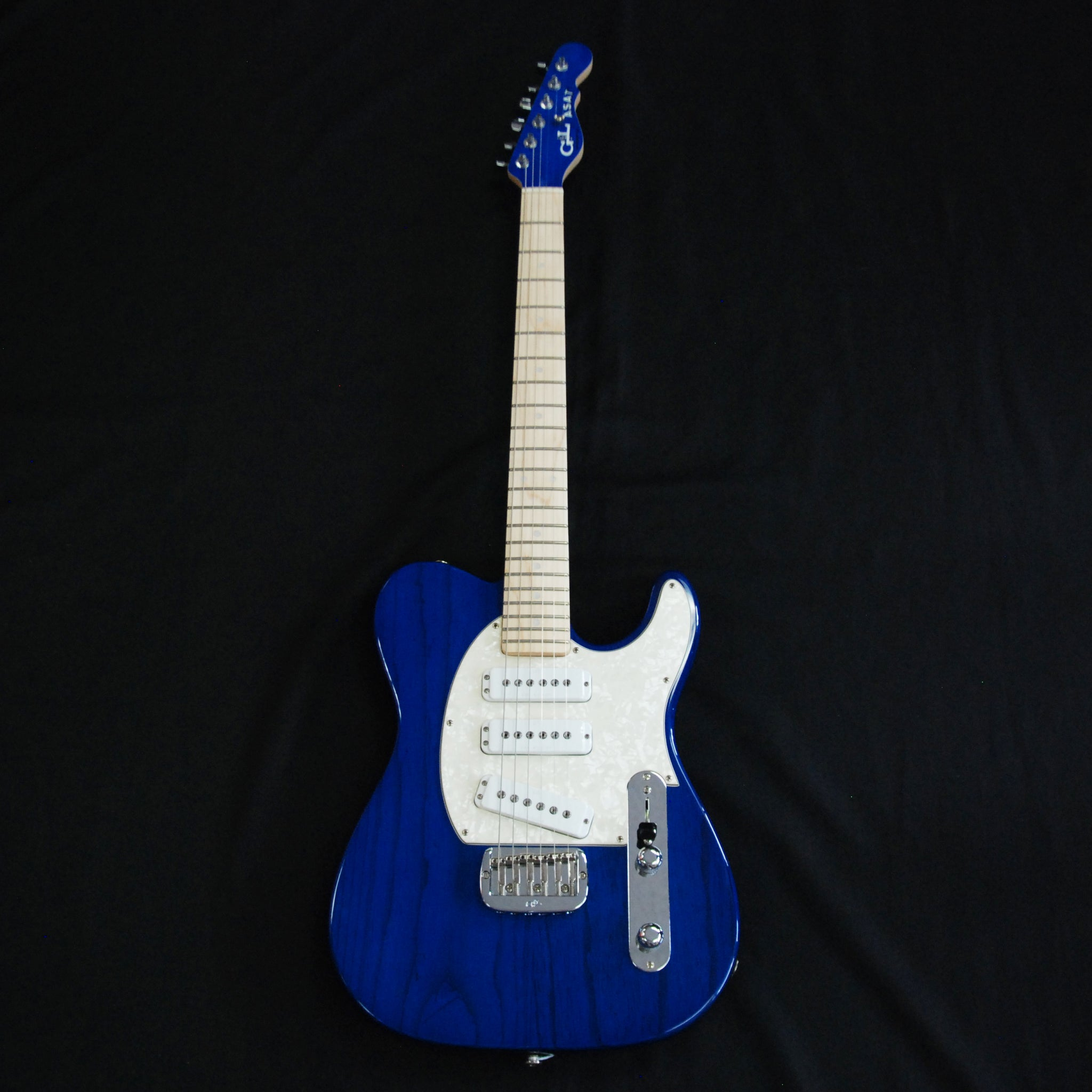 Shop online for G&L ASAT Special 3 Limited Edition USA Electric Guitar Clear Blue 69815 today.  Now available for purchase from Midlothian Music of Orland Park, Illinois, USA