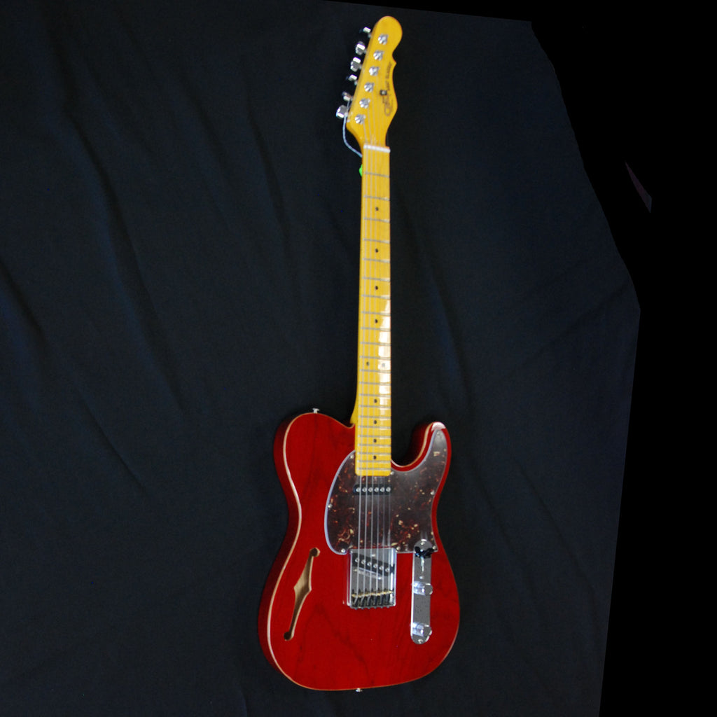 G&L USA ASAT Classic Semi-Hollow W/ F hole Clear Red #47118
