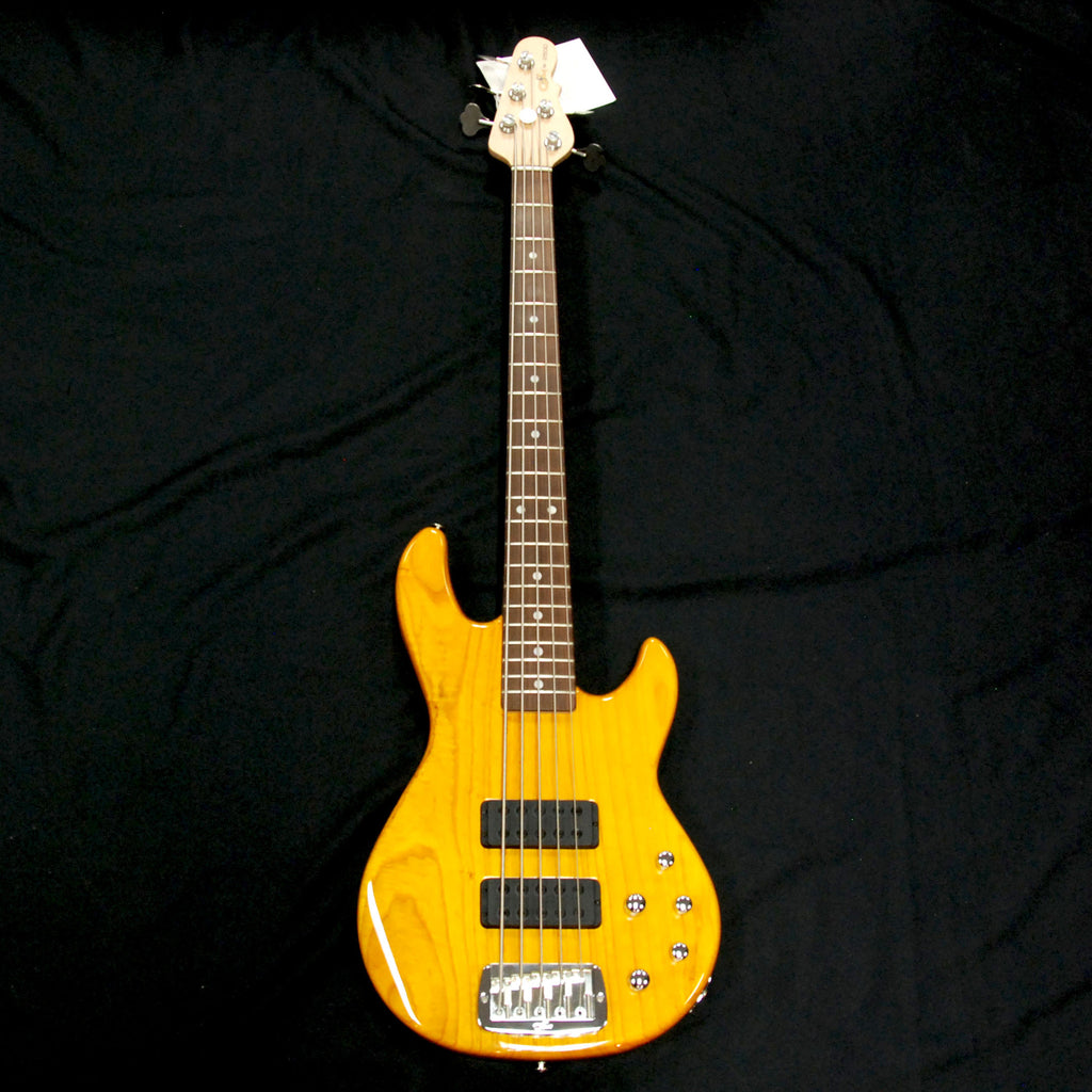 G&L USA M2500 5 String Active Bass Honey