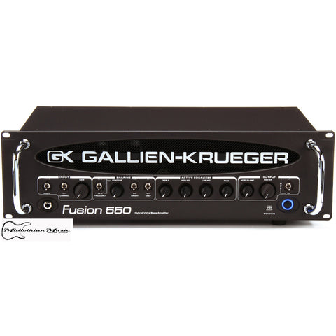 Shop online for Gallien-Krueger Fusion 550 All Tube Bass Preamp Head today.  Now available for purchase from Midlothian Music of Orland Park, Illinois, USA