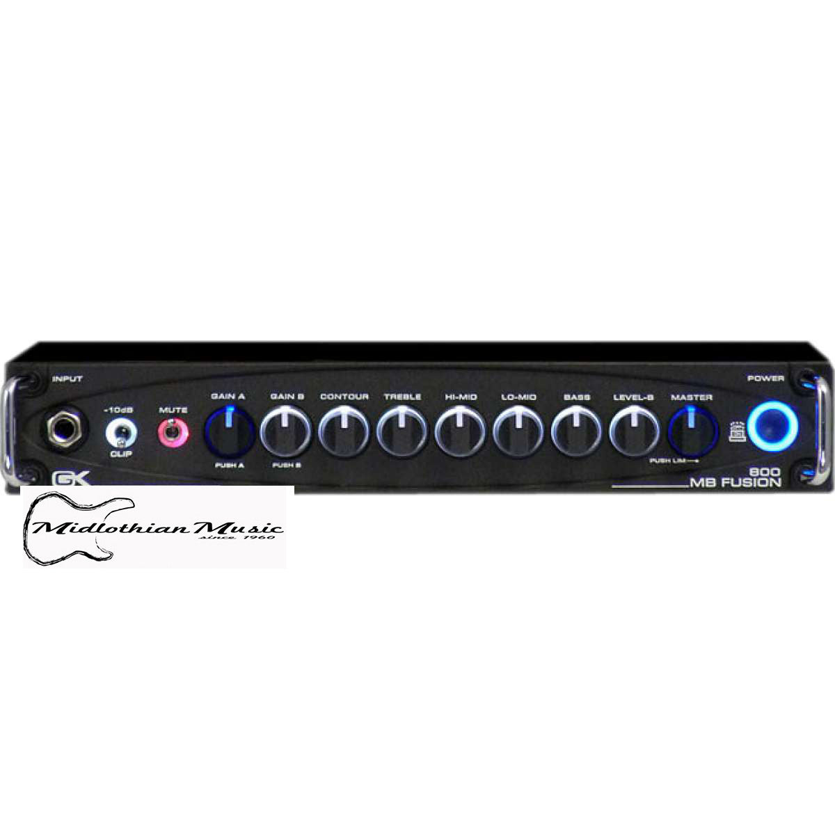 Shop online for Gallien-Krueger MB Fusion 800 - 800 Watt Hybrid Bass Head today.  Now available for purchase from Midlothian Music of Orland Park, Illinois, USA