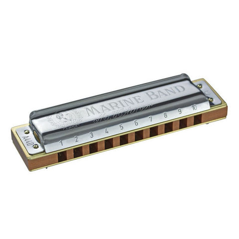 Shop online for Hohner 1896 Marine Band Diatonic Harmonica Key of D today.  Now available for purchase from Midlothian Music of Orland Park, Illinois, USA