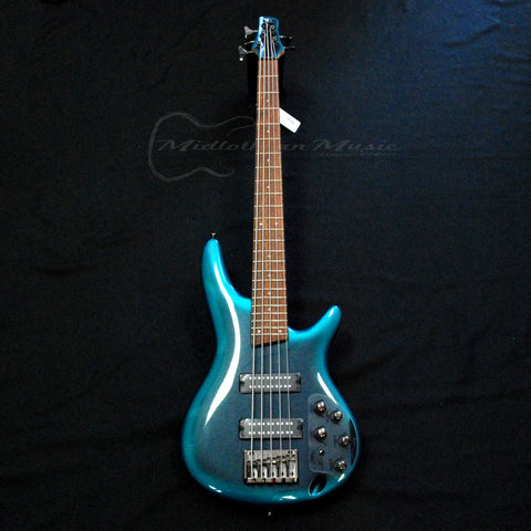 Shop online for Ibanez SR305ECUB 5 String Electric Bass Cerulean Aura Burst today.  Now available for purchase from Midlothian Music of Orland Park, Illinois, USA
