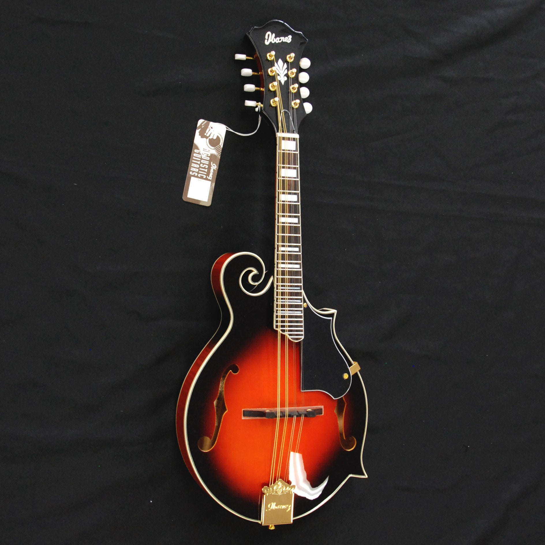 Shop online for Ibanez M522SBS F-Style Mandolin Brown Sunburst today.  Now available for purchase from Midlothian Music of Orland Park, Illinois, USA