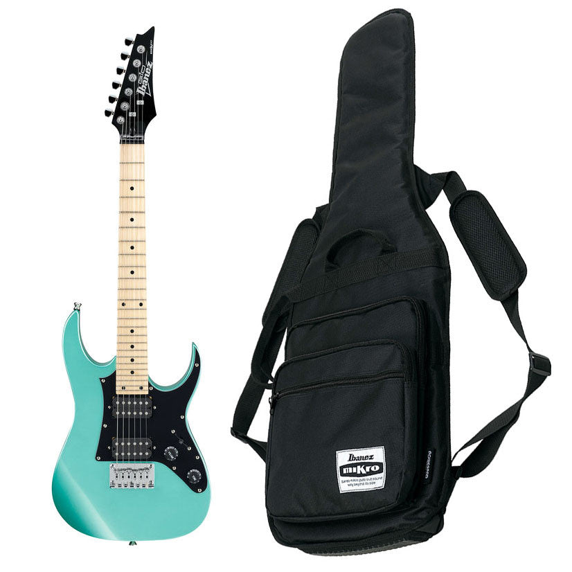 Shop online for Ibanez GRGM21 MLG Mikro 3/4 Electric Guitar Metallic Light Green today. Now available for purchase from Midlothian Music of Orland Park, Illinois, USA