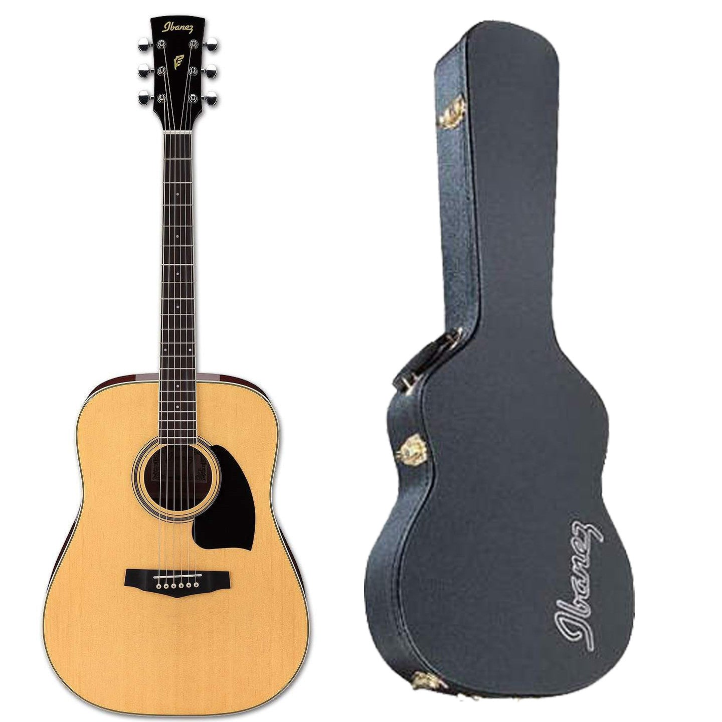 Shop online for Ibanez PF15NT Dreadnought Acoustic Guitar Natural w/FREE Hardshell today.  Now available for purchase from Midlothian Music of Orland Park, Illinois, USA
