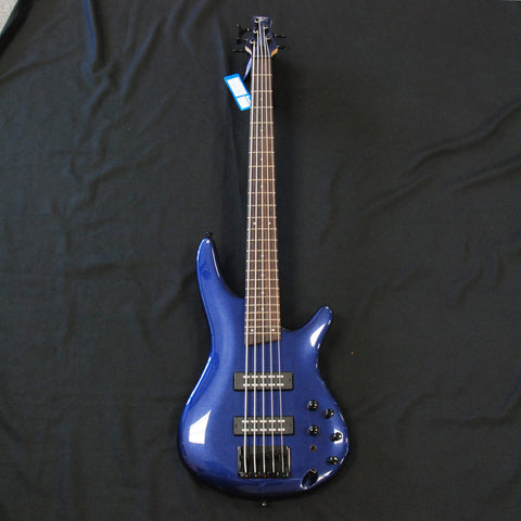Shop online for Ibanez SR305EBNM 5 String Electric Bass Navy Metallic today.  Now available for purchase from Midlothian Music of Orland Park, Illinois, USA