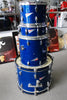 Used | Kauai Used 4 Piece Drum Kit Blue Sparkle