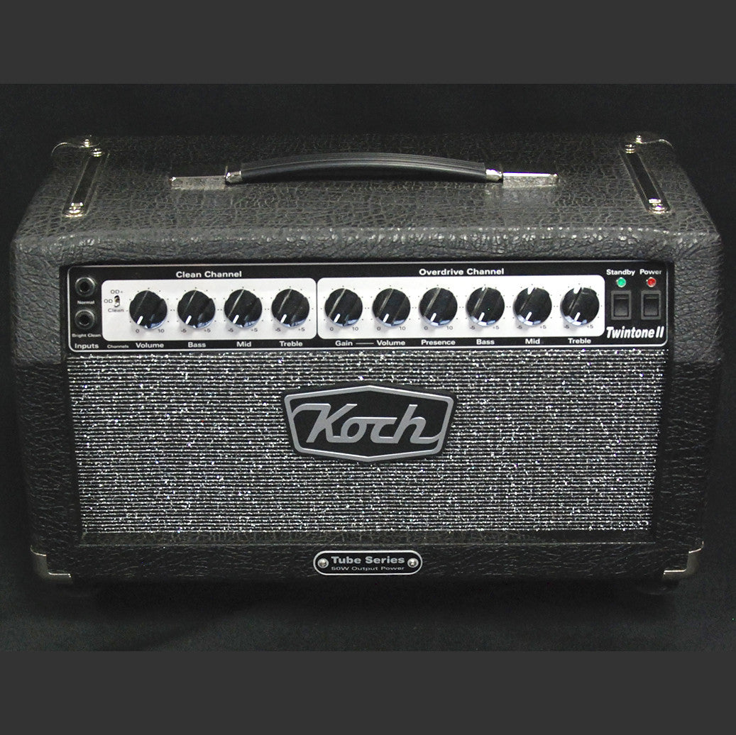Shop online for Koch Twintone II 50 Watt Tube Head Used today. Now available for purchase from Midlothian Music of Orland Park, Illinois, USA