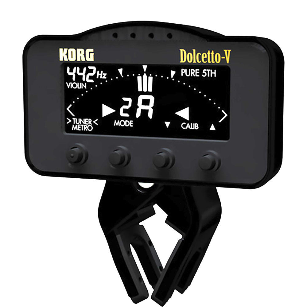 Korg AW3V Dolcetto Clip-On Tuner & Metronome Violin/Viola