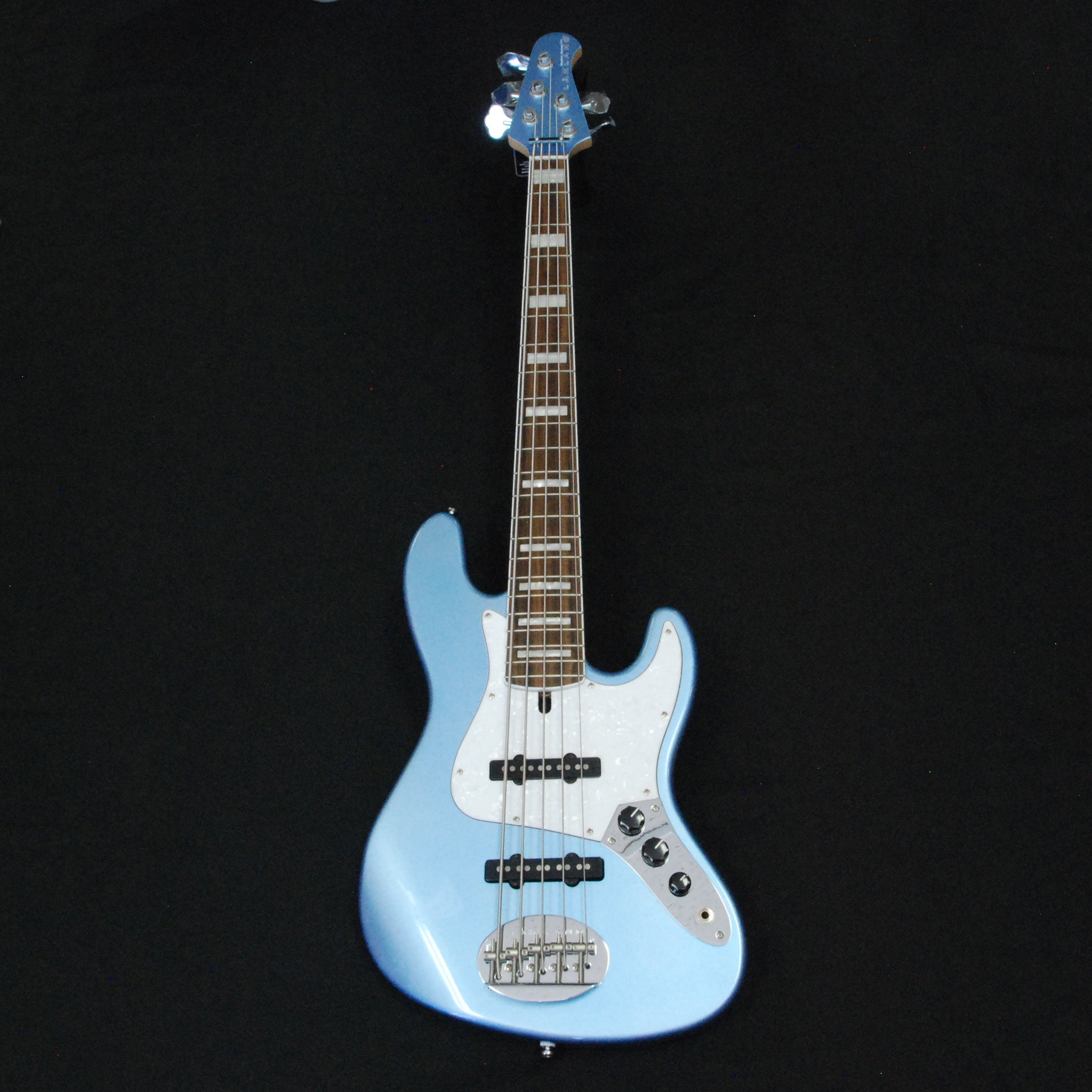 Shop online for Lakland Skyline Series 55-60 Custom Lake Placid Blue 5 String Jazz Bass Guitar [191019099] today.  Now available for purchase from Midlothian Music of Orland Park, Illinois, USA