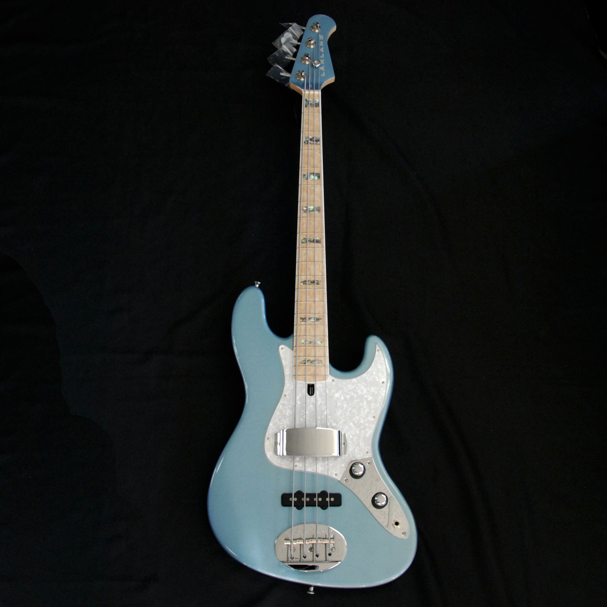 Shop online for Lakland USA Classic Series 44-60 Ice Blue Metallic 4 String Electric Jazz Bass Guitar today. Now available for purchase from Midlothian Music of Orland Park, Illinois, USA