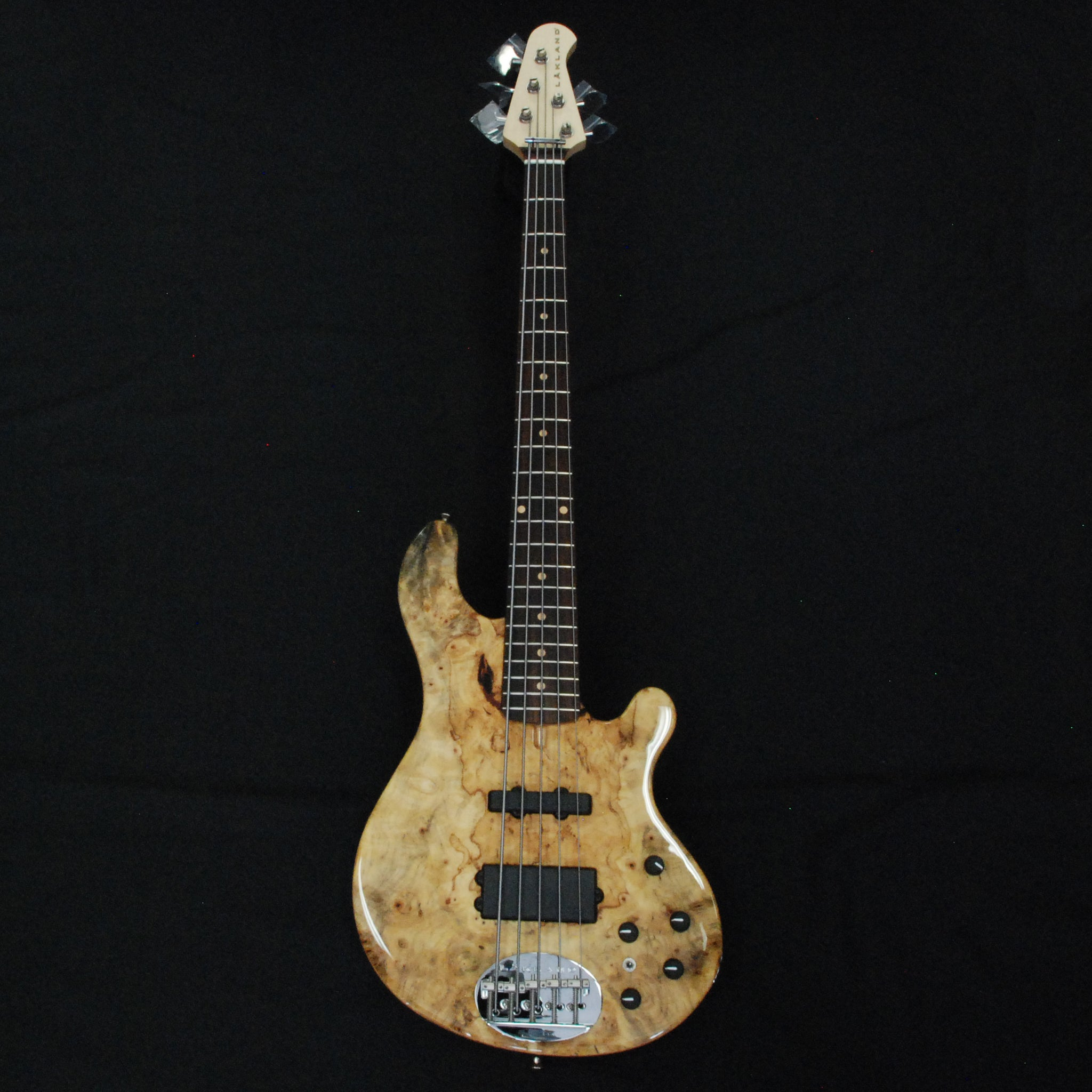 Shop online for Lakland USA Series 55-94 Deluxe Buckeye Burl Maple 5 String Electric Bass Guitar [7808] today.  Now available for purchase from Midlothian Music of Orland Park, Illinois, USA