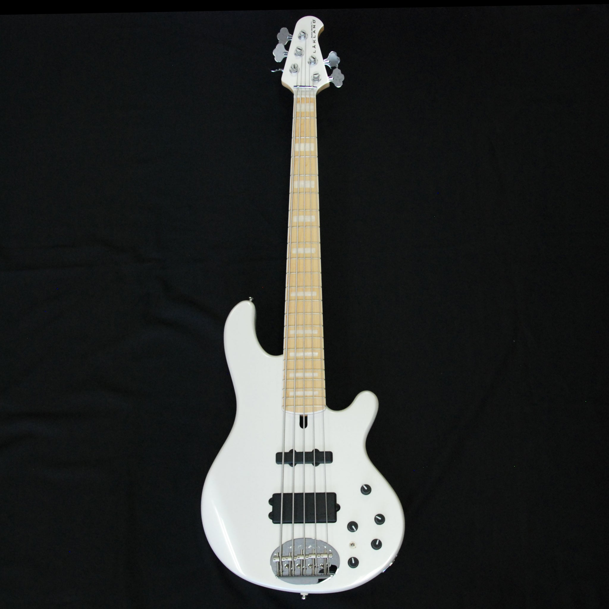 Shop online for Lakland Skyline Series 55-02 Custom Pearl White 5 String Electric Bass Guitar today.  Now available for purchase from Midlothian Music of Orland Park, Illinois, USA