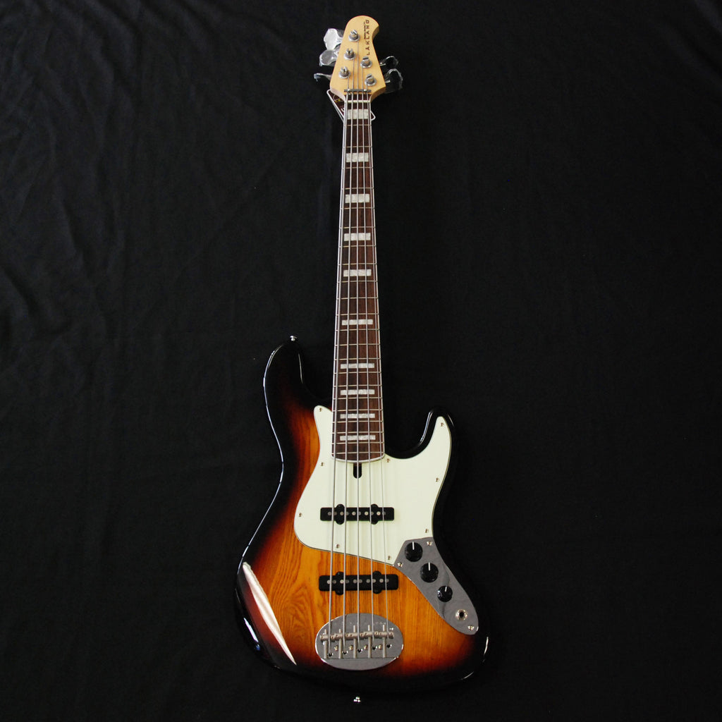 Lakland Skyline 55-60 Custom 5 String Jazz Bass 3 Tone Sunburst w/Blocks and Binding