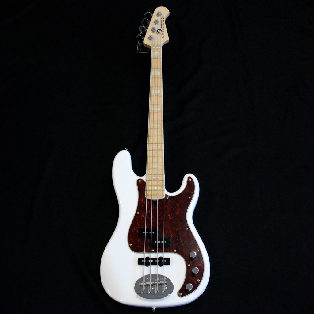 Lakland Skyline 44-64 Custom P & J 4 String Bass White (Rare Maple Neck)