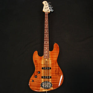 Shop online for Lakland USA Classic Series 44-60 Flamed Walnut 4 String Jazz Bass Guitar Left Hand [LJO868] today. Now available for purchase from Midlothian Music of Orland Park, Illinois, USA