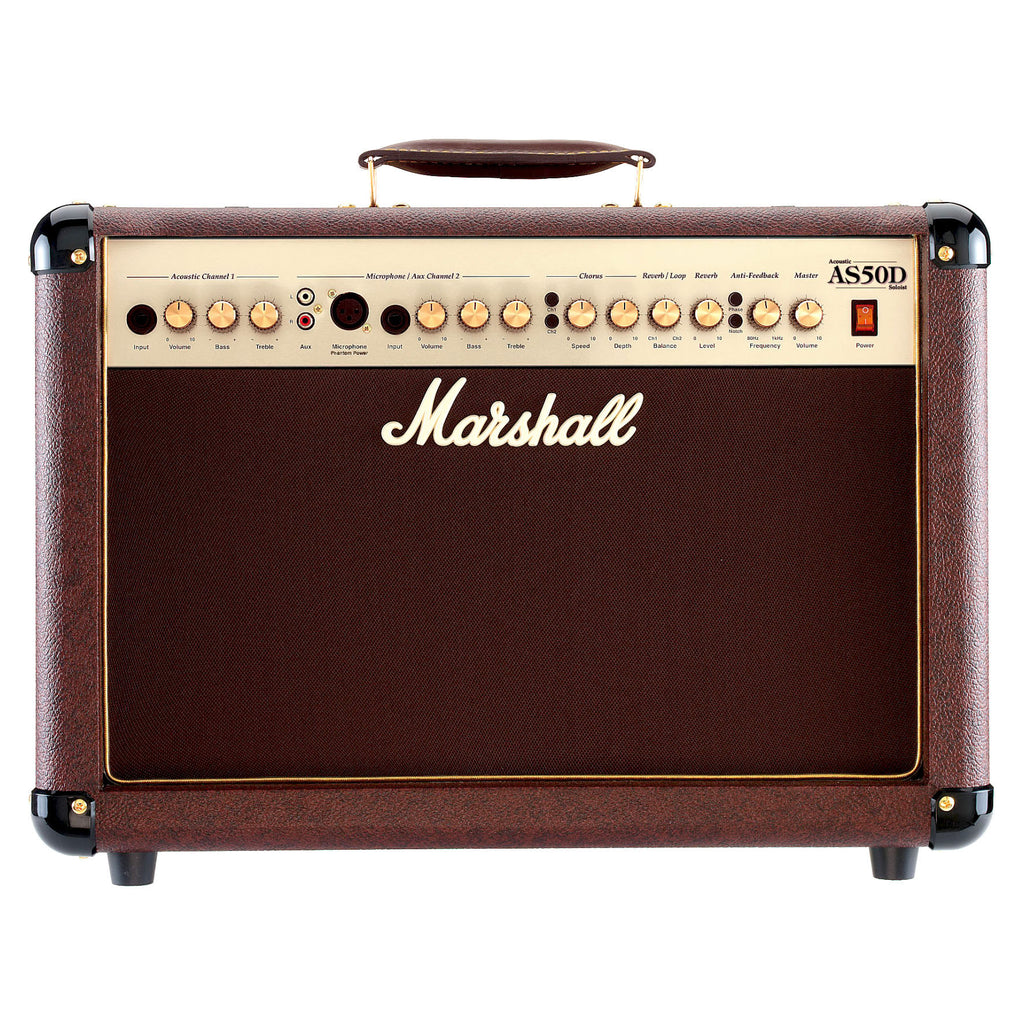 MarshallM-AS50D-U 50 Watt 2x8 Acoustic Guitar Combo Amplifier