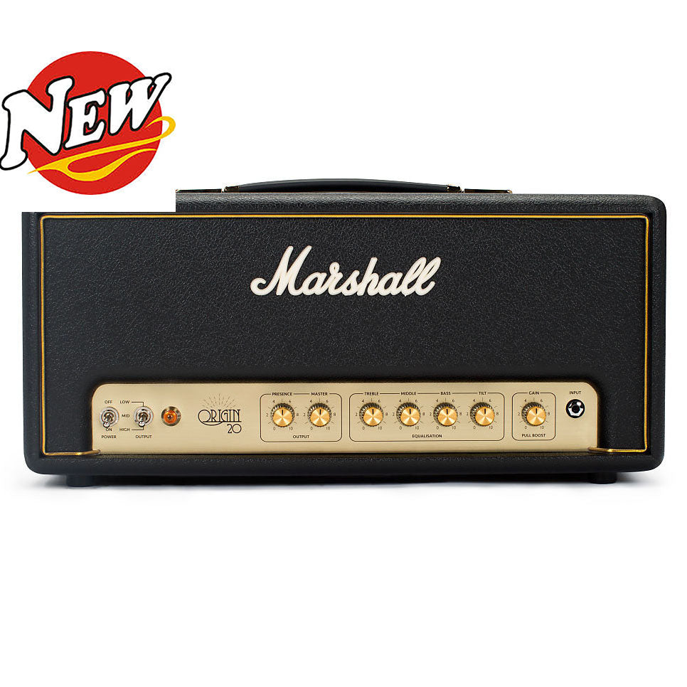 Shop online for Marshall Origin 20H Head 20 Watt EL34 Head today. Now available for purchase from Midlothian Music of Orland Park, Illinois, USA