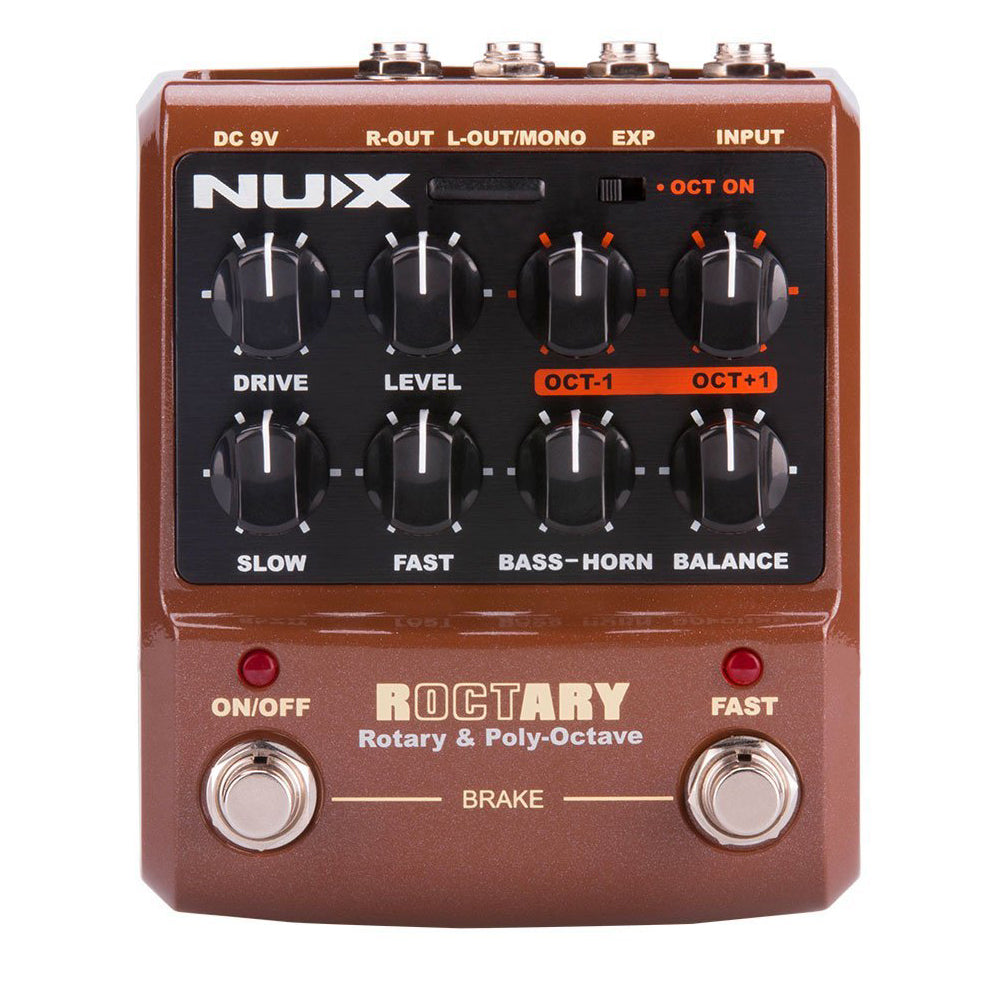 NUX Roctary Rotary & Polyphonic Octave Pedal for Guitar