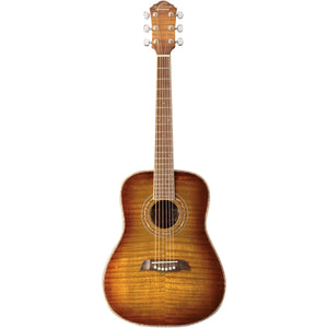 Oscar Schmidt OG1FYS 3/4 Size Dreadnought Acoustic Guitar Flame Yellow Sunburst