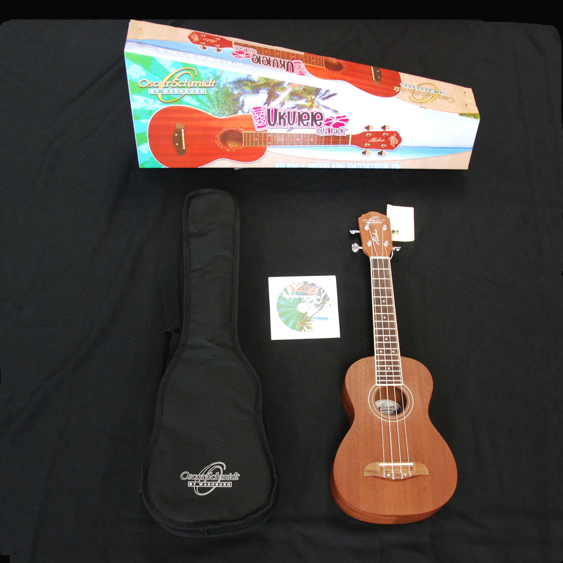 Shop online for Oscar Schmidt OU2 Concert Ukulele Package today.  Now available for purchase from Midlothian Music of Orland Park, Illinois, USA