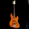 Lakland USA Rare 44-60 Custom Flamed Redwood 4-String Jazz Bass #JO836
