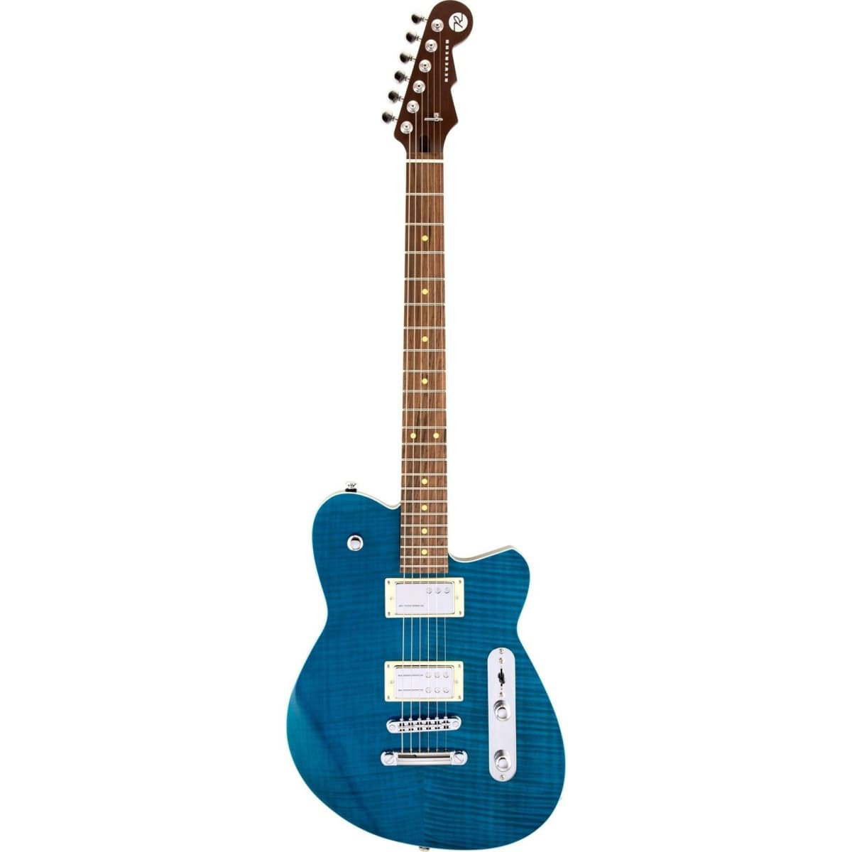 Reverend Charger RA Electric Guitar Transparent Turquoise