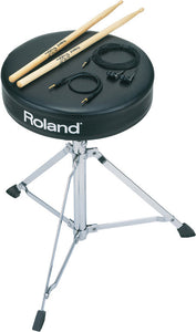 Shop online for Roland DAP-1 V-Drums Throne Accessory Package today.  Now available for purchase from Midlothian Music of Orland Park, Illinois, USA