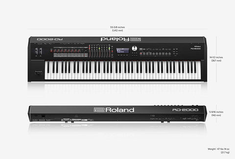 Shop online for Roland RD2000 88 Key Digital Piano today.  Now available for purchase from Midlothian Music of Orland Park, Illinois, USA