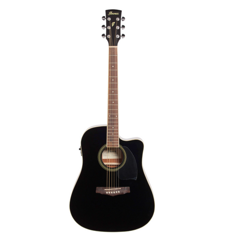 Ibanez PF15ECEBK Dreadnought Cutaway Acoustic/Electric Guitar Black