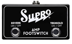 Shop online for Supro SF2 Tremolo & Reverb Footswitch today.  Now available for purchase from Midlothian Music of Orland Park, Illinois, USA