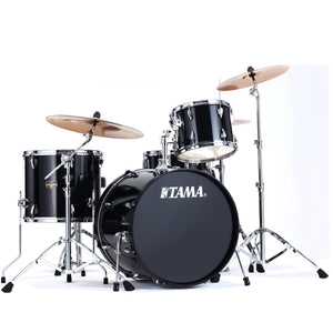Shop online for Tama IP42GCBK 4 Piece Imperialstar Drum Kit Black w/Cymbals today.  Now available for purchase from Midlothian Music of Orland Park, Illinois, USA
