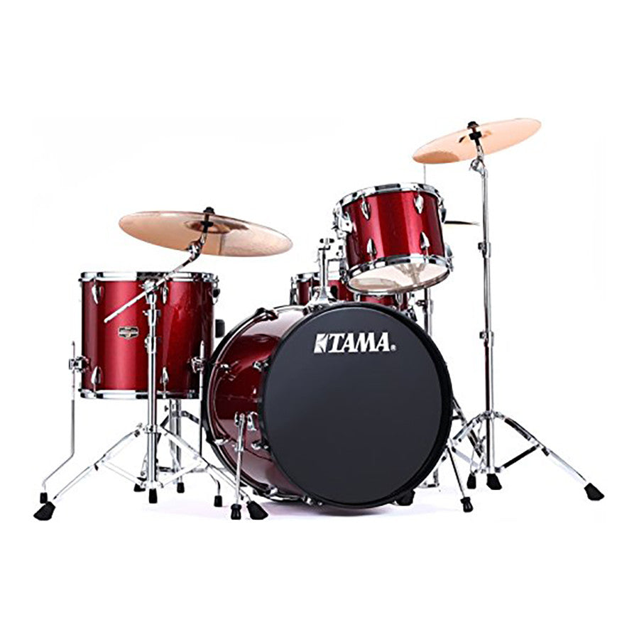 Tama Ip42gcvtr 4 Pc Imperialstar Drum Kit Vintage Red W Cymbals