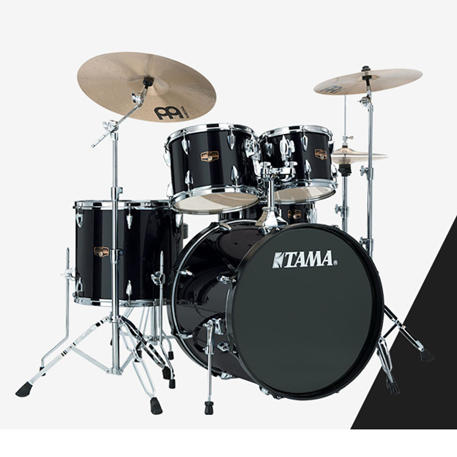 Shop online for Tama IP52KCHBK 5 Piece Imperialstar Drum Kit Hairline Black w/Cymbals today.  Now available for purchase from Midlothian Music of Orland Park, Illinois, USA