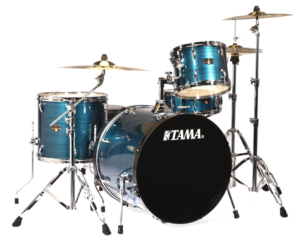 Tama IP42GCHLB 4-pc Imperialstar Drum Kit Hairline Blue w/Cymbals
